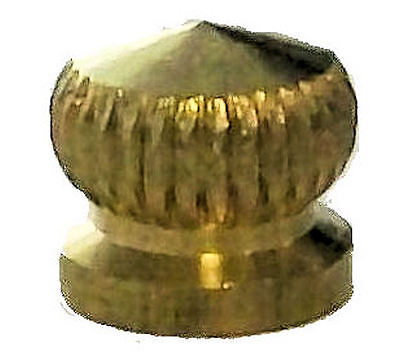 Lamp parts: lot of 3 brass and lacquered cap nuts w/ 8-32 screw hole  TV-566