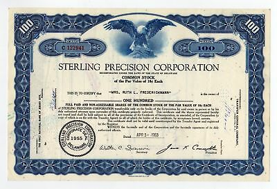 Sterling Precision Corporation Stock Certificate