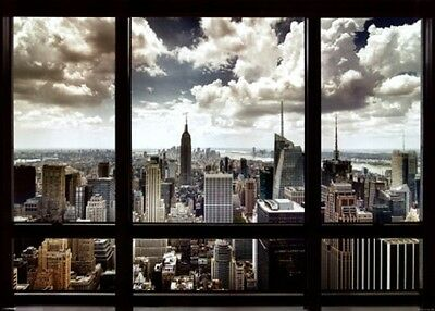 city view window scene wall art new york  LIGHT SWITCH PLATE home decor