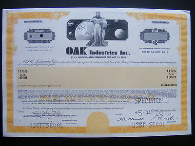 SPECIMEN - Oak Industries Inc. Stock Certificate