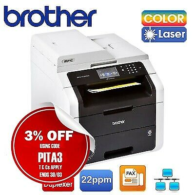 Brother MFC-9140CDN 4in1 Color Laser MFP Printer+Duplexer+AirPrint / TN251 Toner