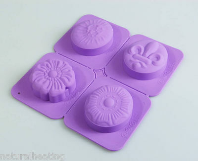 Soap Set 8 - Flower and Fleur Silicone Mould Wax Craft Mold Vingtage Retro