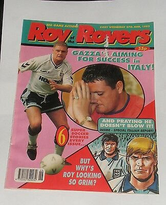 Roy Of The Rovers Comic 27Th June 1992