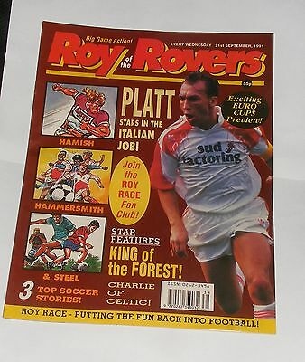 Roy Of The Rovers Comic 21St September 1991