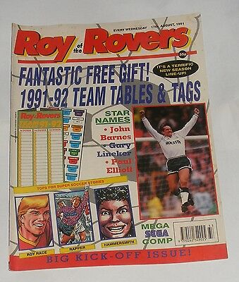Roy Of The Rovers Comic 17Th August 1991