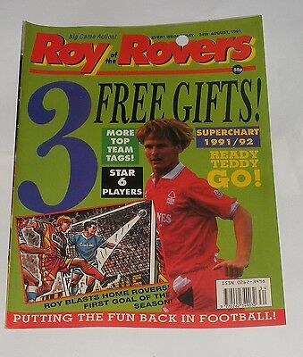 Roy Of The Rovers Comic 24Th August 1991