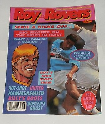 Roy Of The Rovers Comic 5Th September 1992