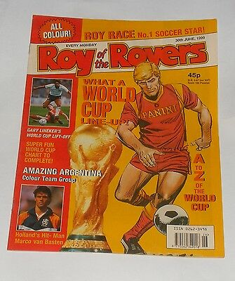 Roy Of The Rovers Comic 30Th June 1990