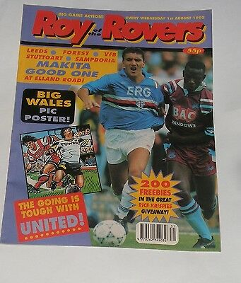 Roy Of The Rovers Comic 1St August 1992