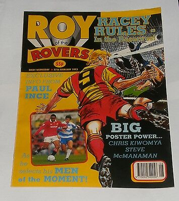 Roy Of The Rovers Comic 27Th February 1993