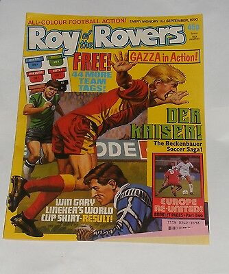 Roy Of The Rovers Comic 1St September 1990