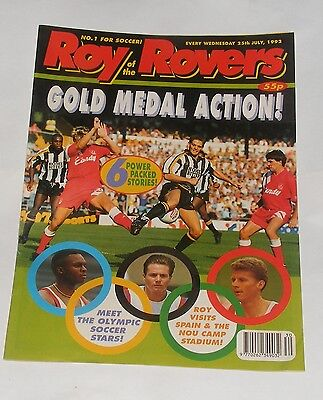 Roy Of The Rovers Comic 25Th July 1992