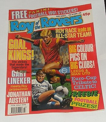 Roy Of The Rovers Comic 27Th October 1990