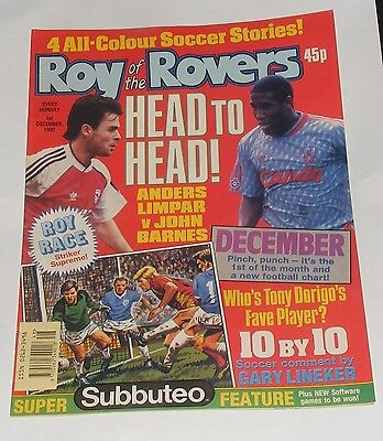 Roy Of The Rovers Comic 1St December 1990