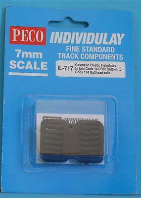 Peco Individulay Il-717 7Mm Finescale (O) Set Of 48 Cosmetic Plastic Fishplates
