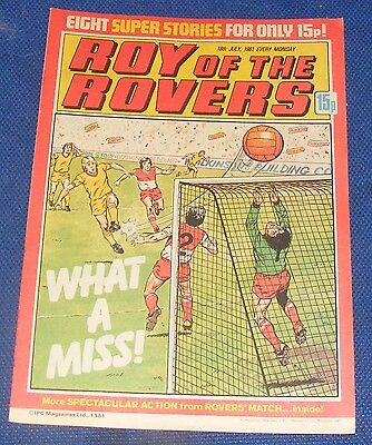 Roy Of The Rovers Comic 18Th July 1981 Sign Please John Seasman