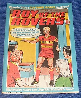 ROY OF THE ROVERS COMIC 4TH JULY 1981 SIGN PLEASE - IAIN McCULLOCH