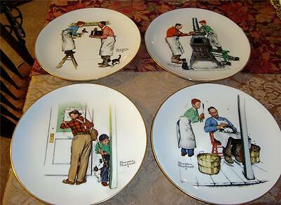NORMAN ROCKWELL FOUR SEASON COLLECTOR PLATES SET OF FOUR 1979