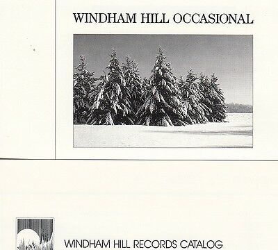 1987-8 Windham Hill Records catalogs & artist info lot
