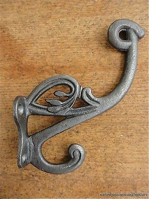 Art Nouveau Style Cast Iron Double Coathook Coat Hook Q11