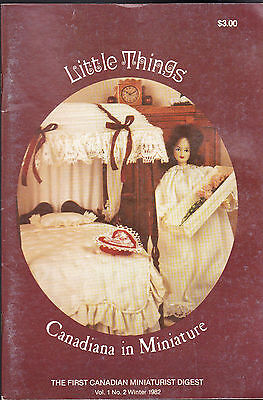 Little Things the First Canadian Miniaturist Digest Winter 1982 Volume 1 #2