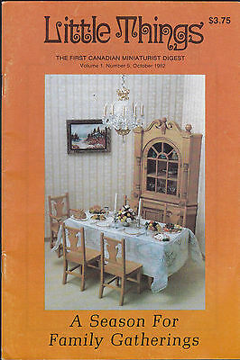 Little Things the First Canadian Miniaturist Digest October 1982 Volume 1 #5