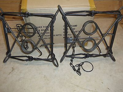 2  Duke 280  Body Grippers Trap  Trapping  Beaver Coyote Bobcat 0480