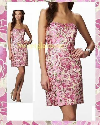 54c4244bf9d  328 Lilly Pulitzer Raya Floral Metallic Gold Jacquard Pirates Bootyniere  Dress