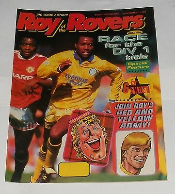 Roy Of The Rovers Comic 1St February 1992