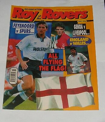 Roy Of The Rovers Comic 7Th March 1992