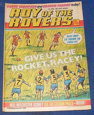 Roy Of The Rovers Comic 11Th April 1981  Sign Please Garry Thompson