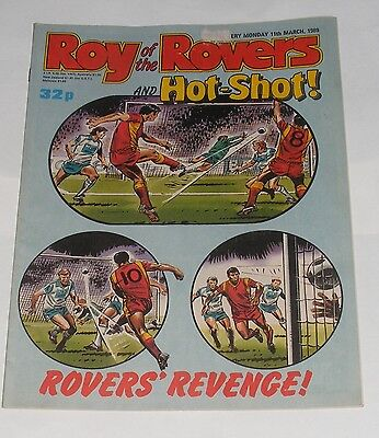Roy Of The Rovers Comic 11Th March 1989