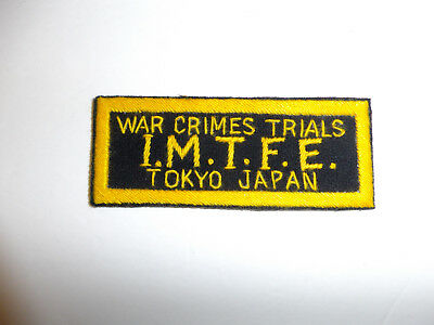 b2567 WW 2 US Army War Crimes Trials I.M.T.F.E. Tokyo Japan patch R9B