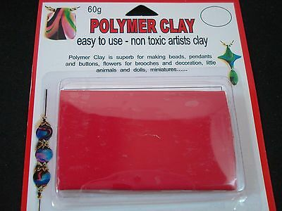 Modelling Polymer Clay Art/Craft Oven Bake 60g Dark Red Party FREE POSTAGE