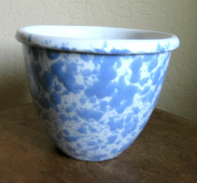Bennington Potters Morning Glory Blue Agate Mixing Bowl