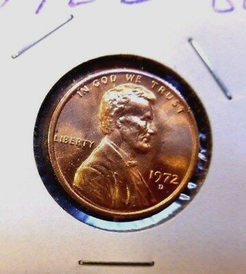 1972 - D   Lincoln  Memorial  Cent  BU   Red    Nice  US  Combined  Shipping