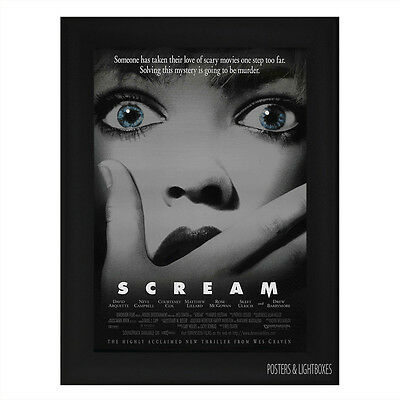 SCREAM Horror Framed Film Movie Poster A4 Black Frame