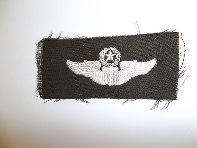 b2583 WW 2 US Army Air Force cloth Command Pilot's Wings elastique wool C16A16
