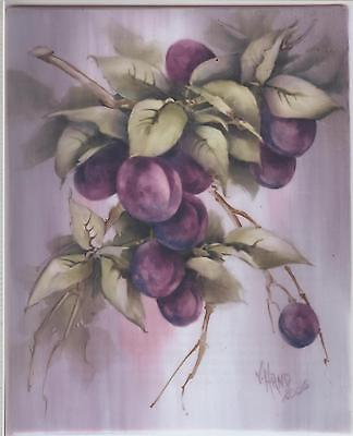 Plums by Vicky Hand  China Painting Study 2006