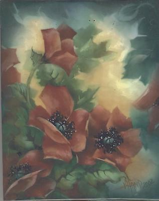 Poppies by Vicky Hand China Painting Study 2002