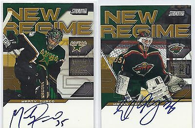 2001 Topps SC New Regime Autographs #NRAMT Marty Turco Dallas Stars Signed