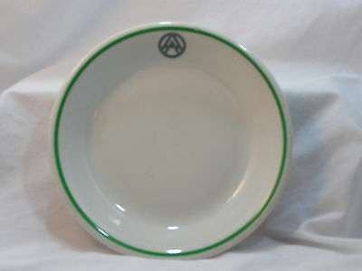 VINTAGE SHENANGO CHINA SOUP BOWL, DOUBLE A CIRCLE LOGO