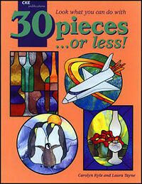 30 pieces or less Stained Glass Pattern Book