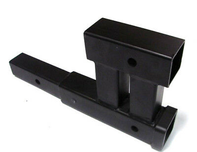 """Dual 2"""" Trailer Hitch Receiver Rise-Drop Adapter Extender Extension 4000LB Tow"""