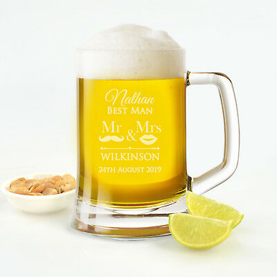 Personalised Favours Engraved Custom Wedding Beer Mugs and Boxes for Groomsmen