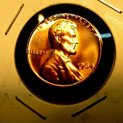 1964 - P   Lincoln  Memorial  Cent   BU  Red  Nice  US  Coin  Combined  Shipping