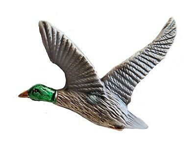 Mallard Duck Coloured Pewter Pin Badge - Exclusive to 1000 Flags