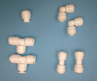 """Push-Fit Connector 1/4"""" Pf Tube - Water Filter/ro"""