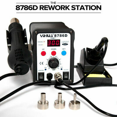 2 In 1 Soldering Iron SMD Hot Air Gun Rework Station YH-8786D