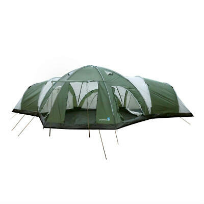 Peaktop 3+1 Room Family Group Dome Camping Tent 8 Person Seam-in Groudsheet